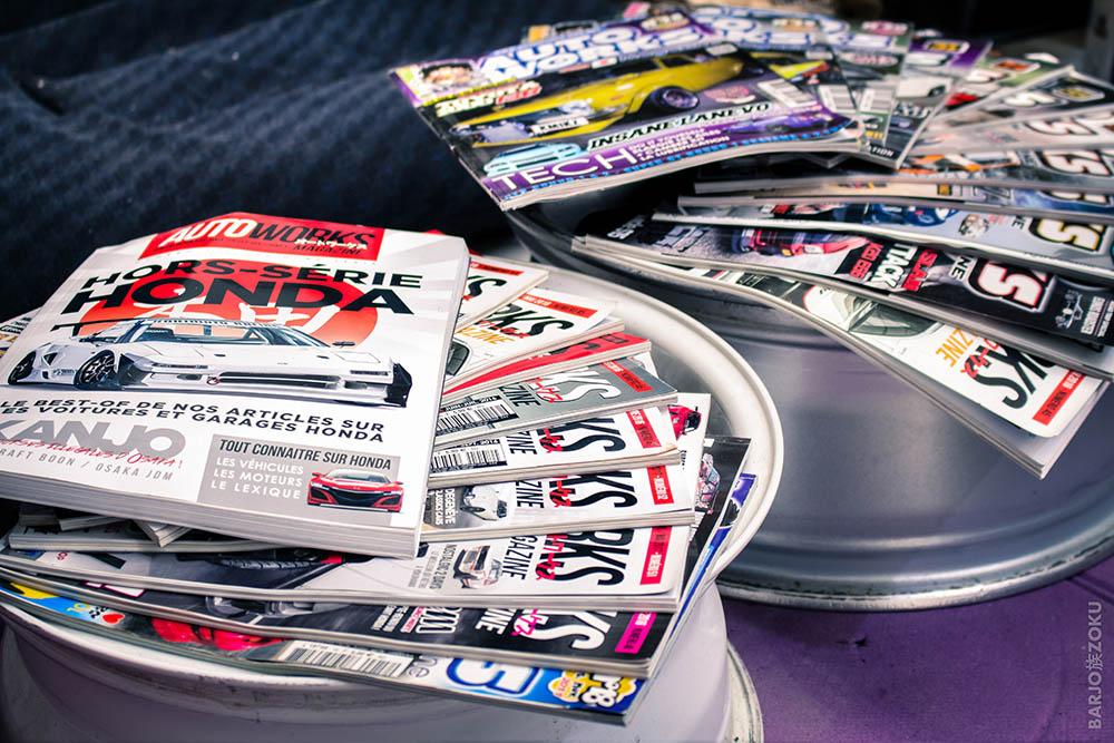 magazines Autoworks posés sur jantes